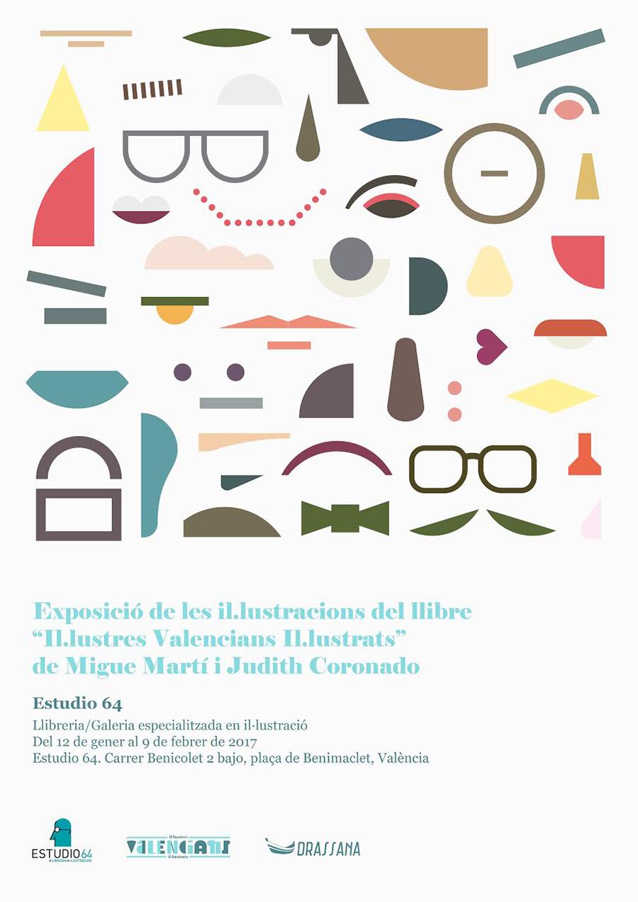 Il•lustres Valencians Il•lustrats cartel.lecoolvalencia