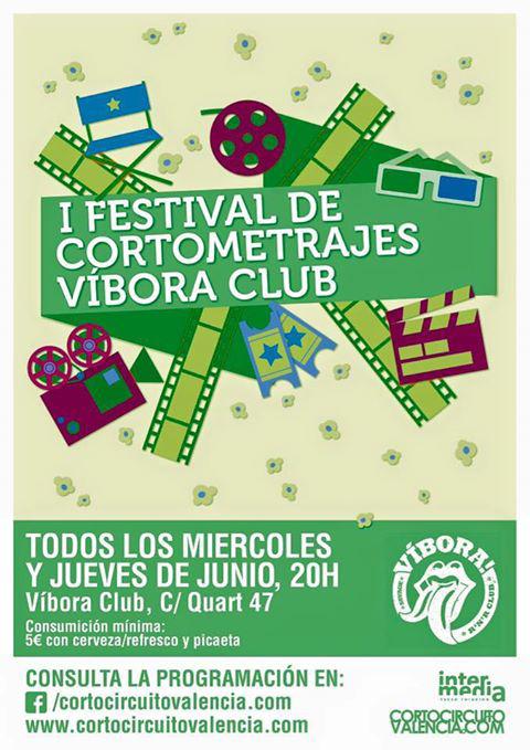 Festival de Cortometrajes de Víbora Club cartel.lecoolvalencia