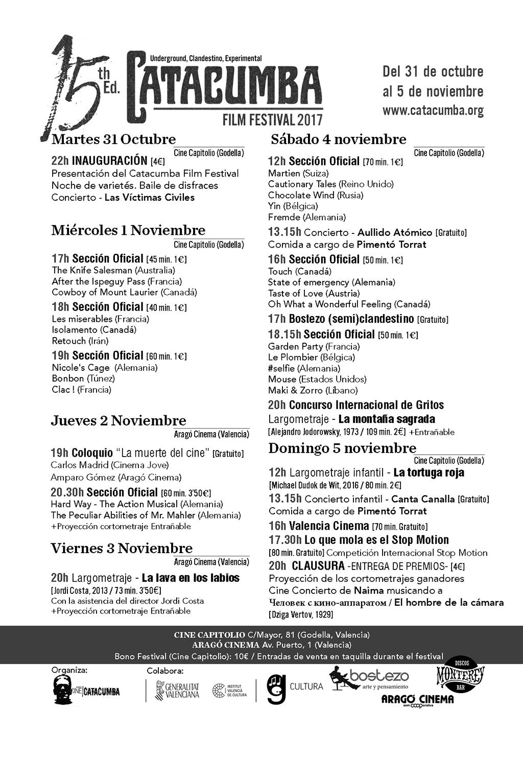 Catacumba Film Festival 2017 pgm.lecoolvalencia