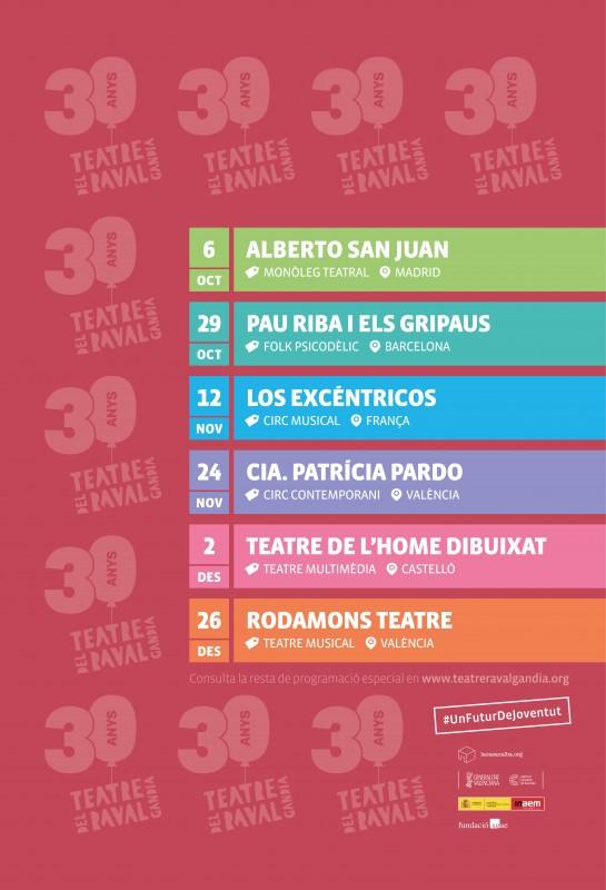 Programación Teatre Raval Gandia
