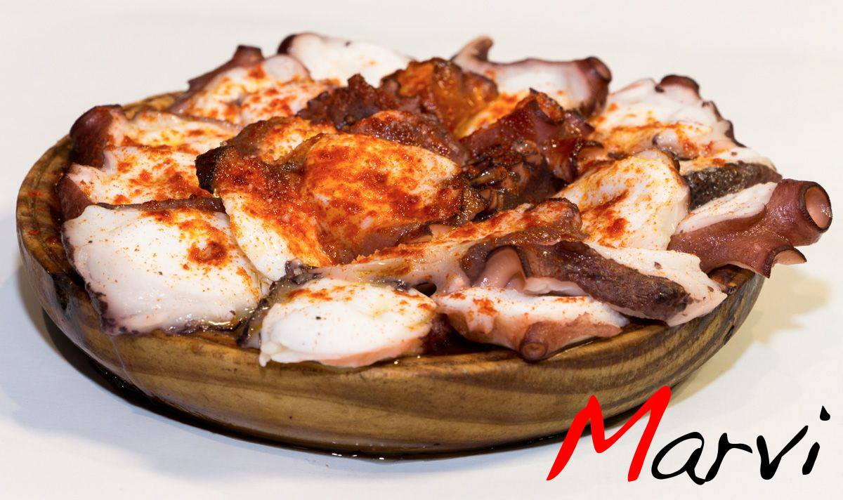 Pulpo a feira, la especialidad del Marvi. Fuente: Facebook Bar Marvi.