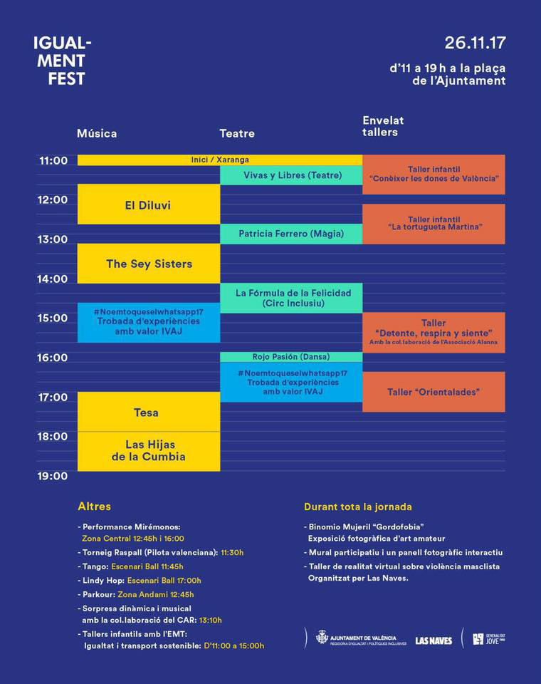 Igual-ment Fest horario.lecoolvalencia