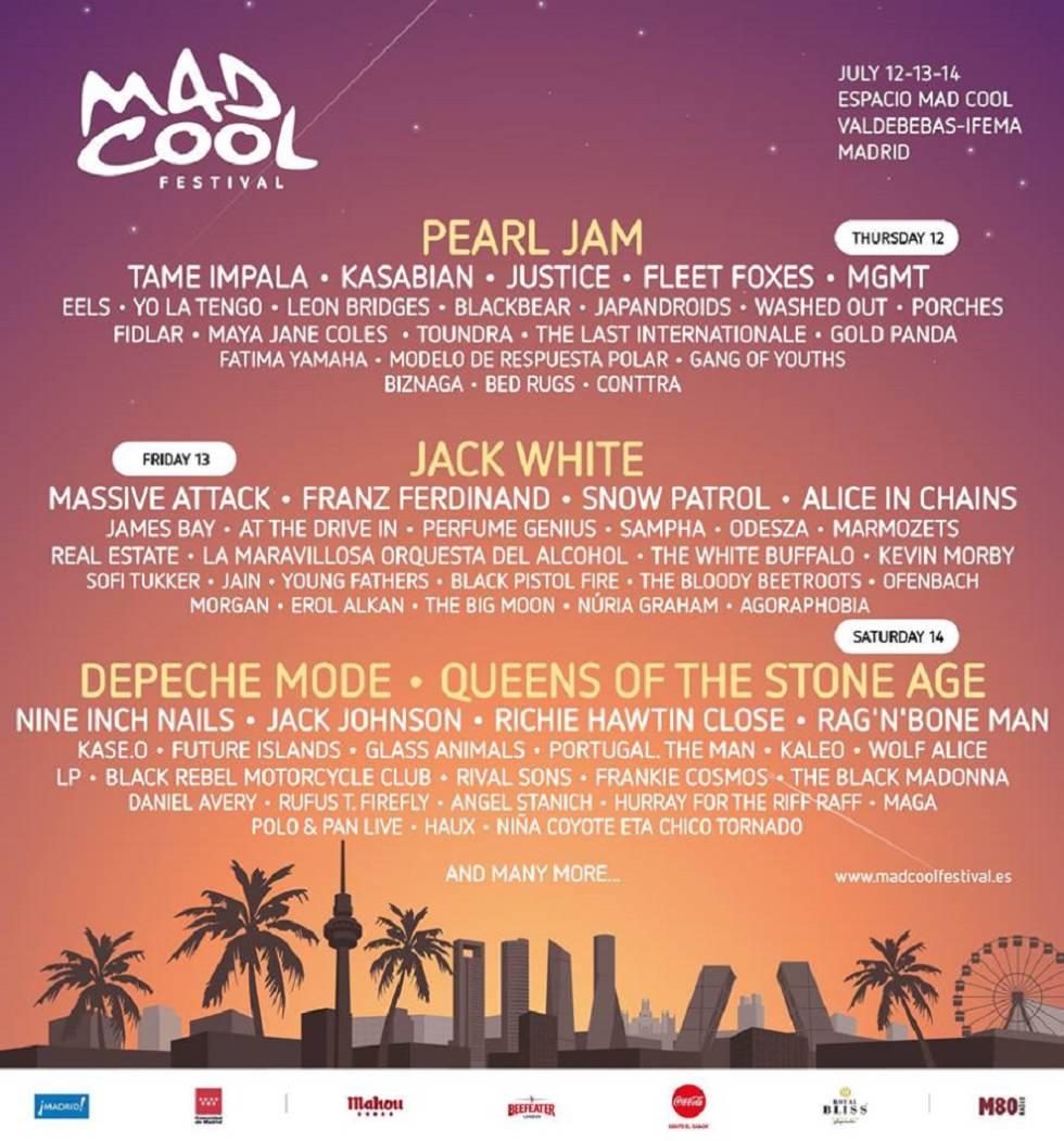 Mad Cool 2018 cartel.lecoolvalencia