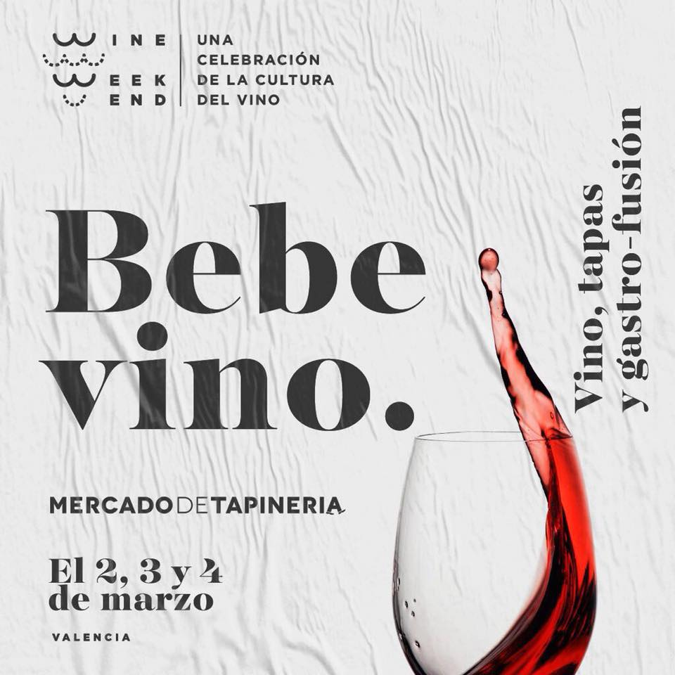 Wine Weekend cartel.lecoolvalencia