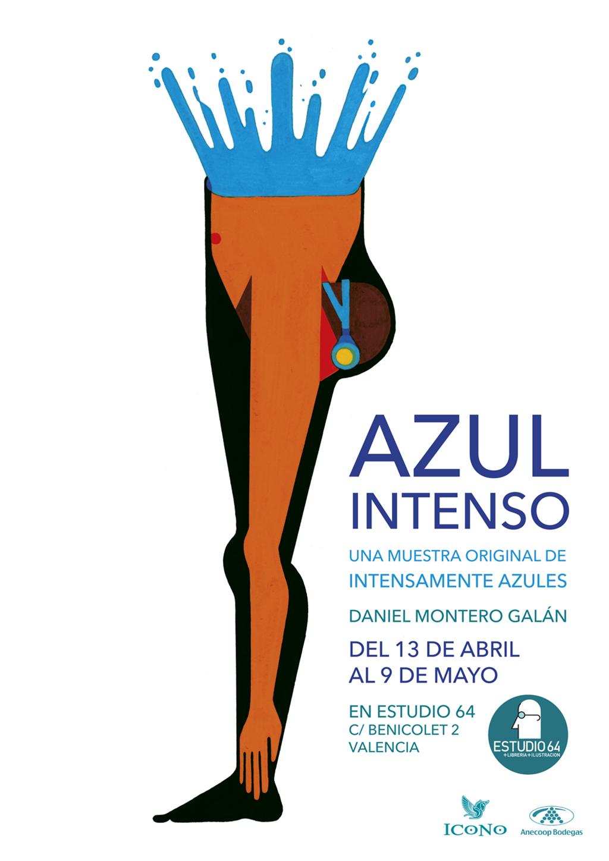 Azul Intenso cartel.lecoolvalencia