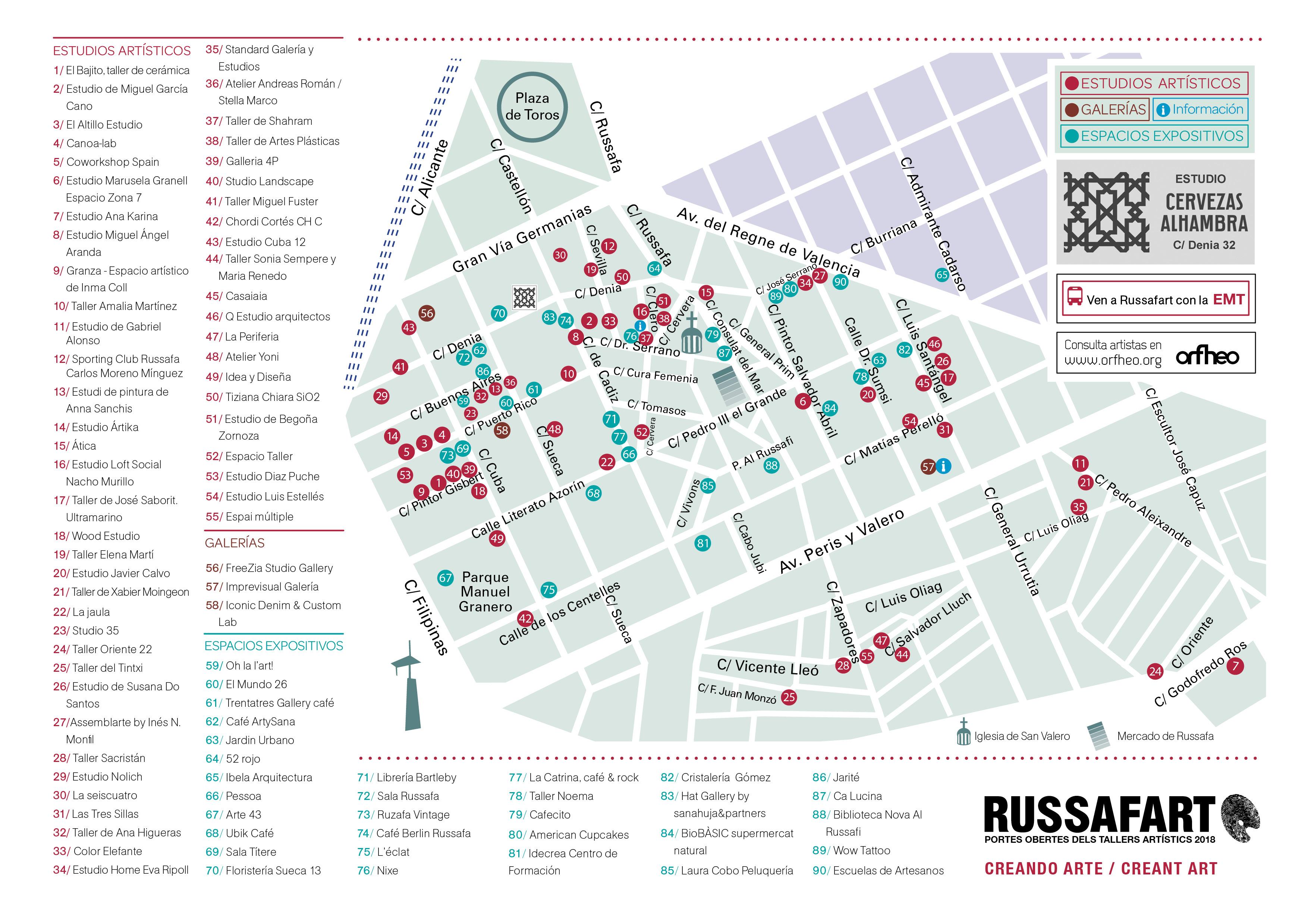 Mapa Russafart