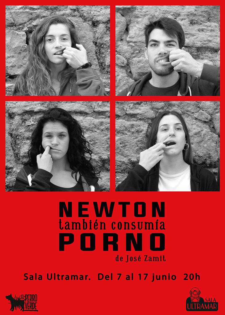 Newton también consumía porno cartel.lecoolvalencia