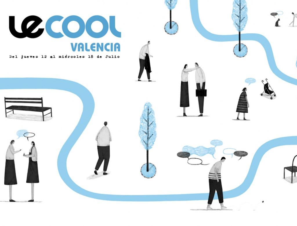 Portada Juanjo Gasull para Le Cool Valencia del 12 al 18 de julio de 2018